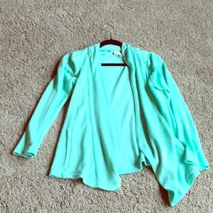 Spring cardigan in mint. Size M